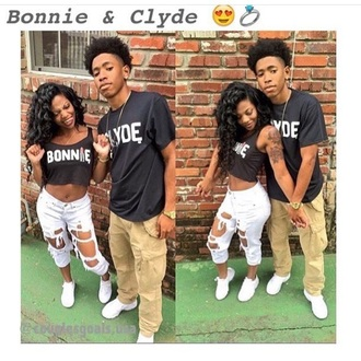 blouse shirt matching couples bonnie and clyde black top
