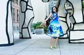 oh my blog,blogger,skirt,scarf,print,blue