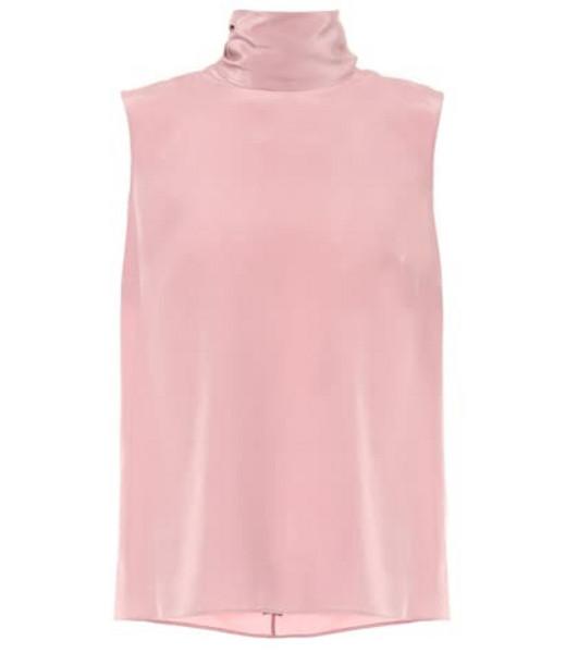 Roksanda Silk crêpe top in pink
