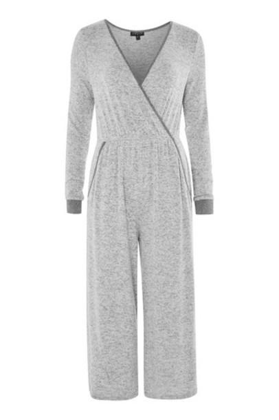 Topshop jumpsuit grey