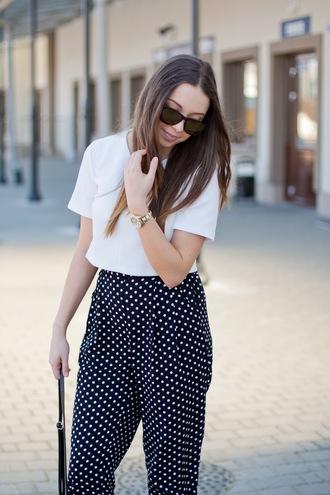 kolorowa dusza blogger watch printed pants