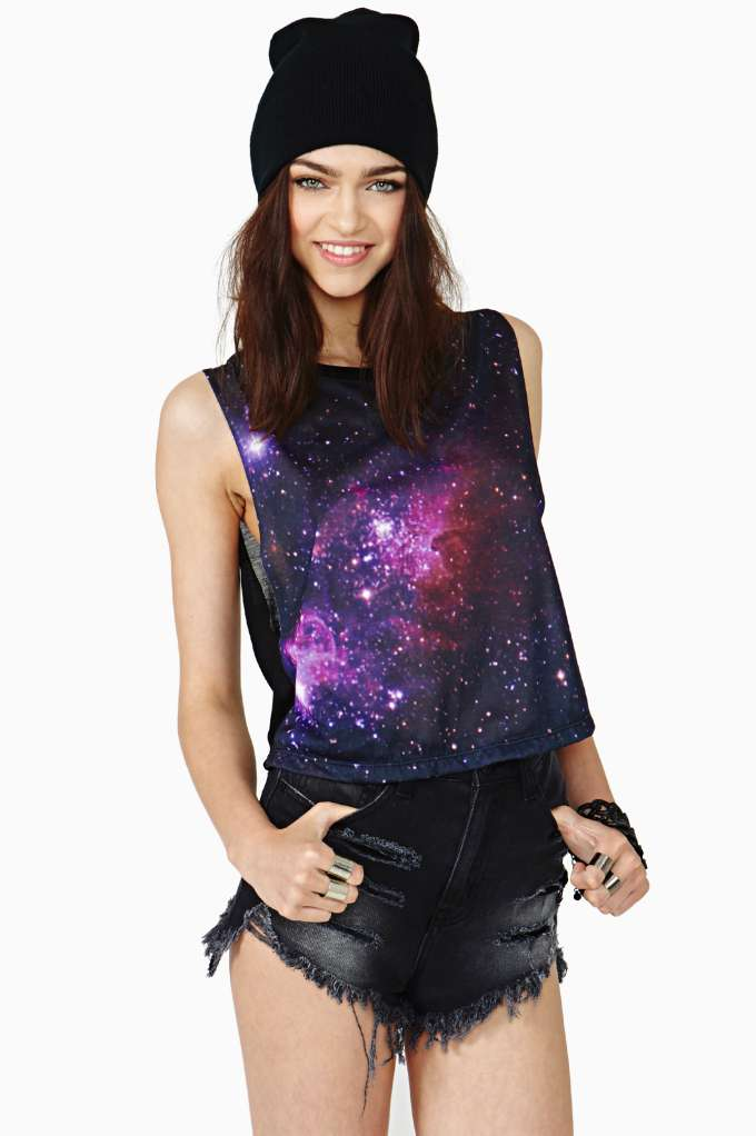 Cosmic Dust Tank | Shop Graphics at Nasty Gal