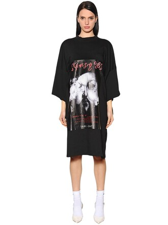 dress shirt dress t-shirt dress cotton black