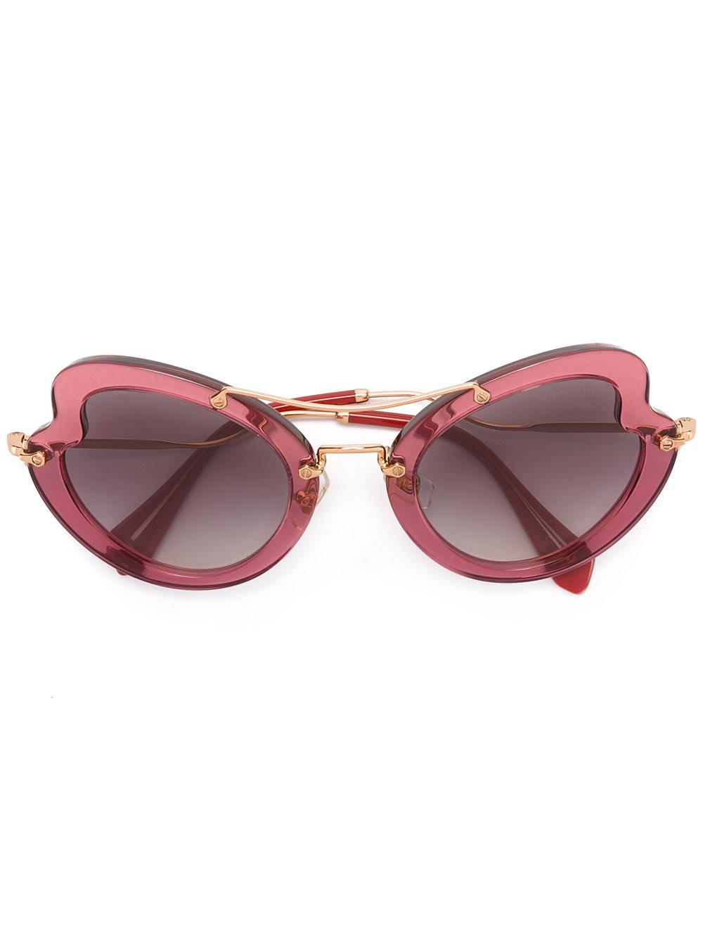 c2b260f628c2 Miu Miu Eyewear Scenique sunglasses - Pink & Purple