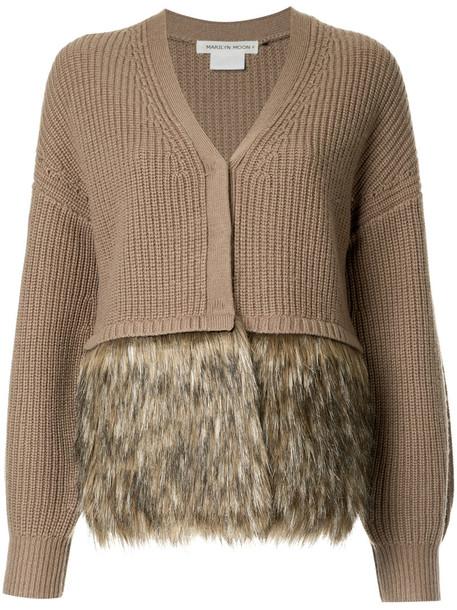 Cityshop coat women wool brown