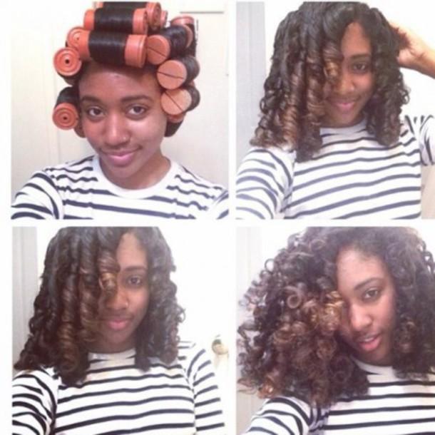 how to make orange curls