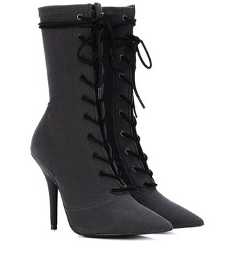 ankle boots lace grey shoes