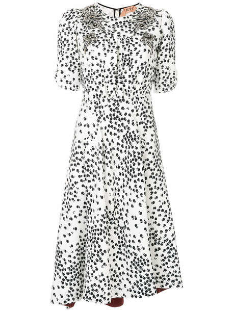 No21 dress embellished dress women embellished white
