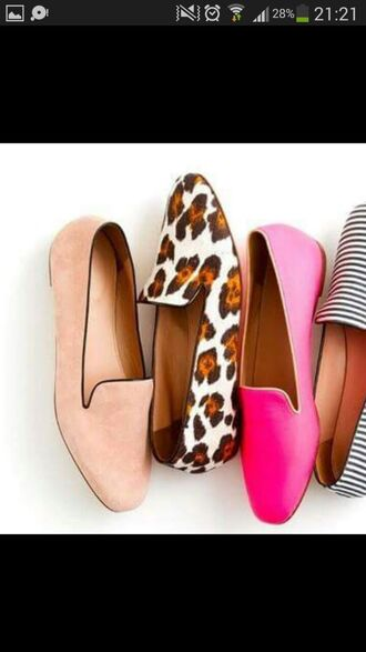 shoes pink loafers fashion new girl salmon stripes black flats