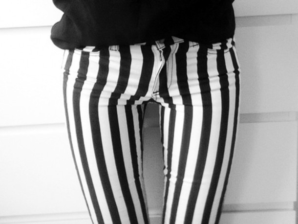 9084befc789e5 pants stripes black and white striped pants jeans stripes black white bottom