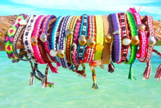 jewels braided bracelet rainbow bracelets shell beach cute designs stackable bracelets yellow blue pink orange green white purple black