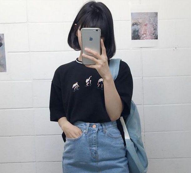 top kozy black kawaii grunge high waisted denim shorts japan hipster tumblr  iphone iphone cover vintage. Top  kozy  black  kawaii grunge  high waisted  denim shorts  japan