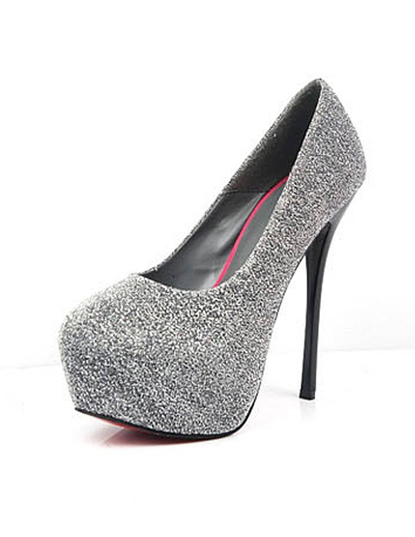 Silver Pumps / High Heels - Silver Ankle Shoe Boot with | UsTrendy