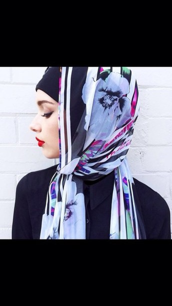 scarf scarf patter classy beautiful black colours