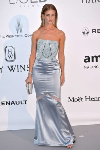 dress gown prom dress silver rosie huntington-whiteley long prom dress bustier bustier dress cannes clutch