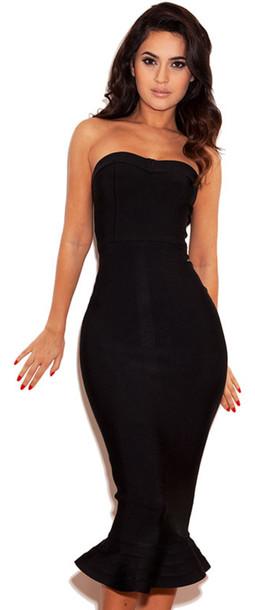 Black bandeau dresses