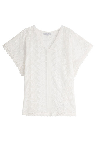 tunic lace white top
