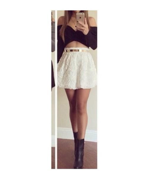 skirt white skirt lace skirt skater skirt