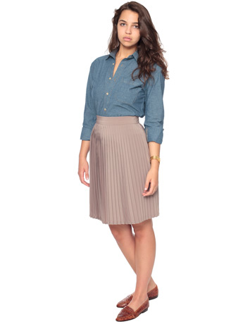 pleated skirt shop american apparel