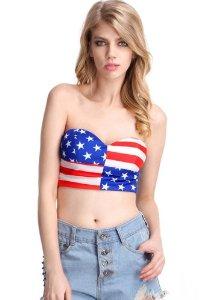 Amazon.com: sexiw american flag print bandeau size m: toys & games
