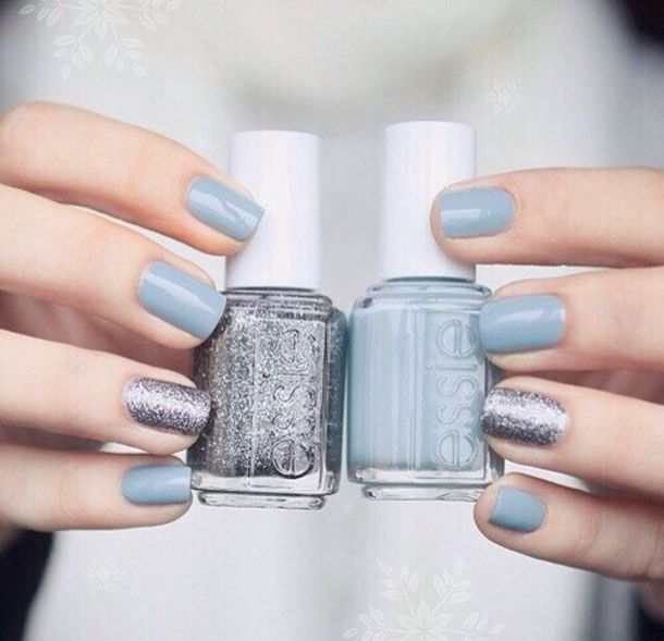 Nail Polish Prom Beauty Pll Ice Ball Silver Light Blue Essie