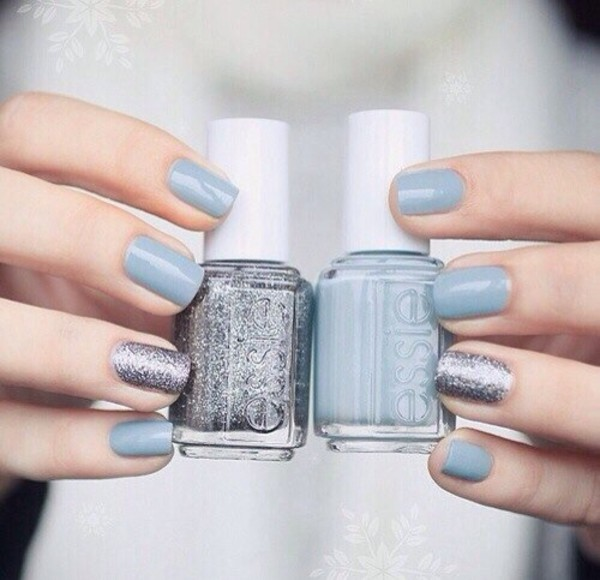 nail polish prom beauty pll ice ball silver light blue essie date outfit hair makeup. Black Bedroom Furniture Sets. Home Design Ideas