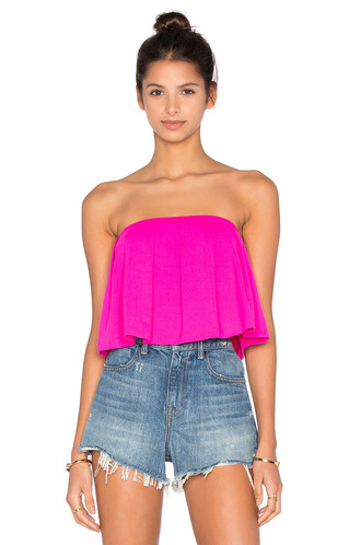top pleated pink