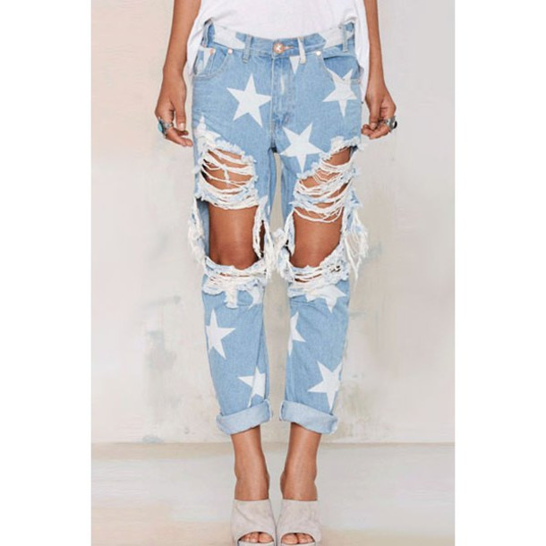Ripped Baggy Jeans - Shop for Ripped Baggy Jeans on Wheretoget