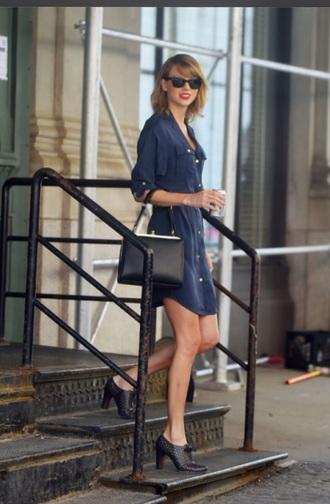 dress taylor swift taylor swift dress blue dress navy blue dress sunglasses