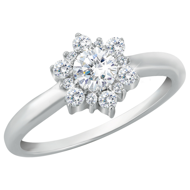The sparkling snowflake ring