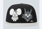 hat,the simpsons,cap,itchy and scratchy,drop dead clothing