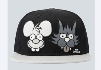 hat the simpsons cap itchy and scratchy drop dead clothing drop dead