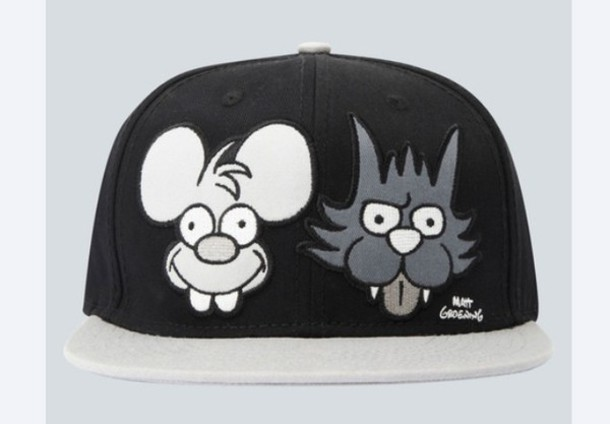 hat the simpsons cap itchy and scratchy drop dead clothing drop dead clothing