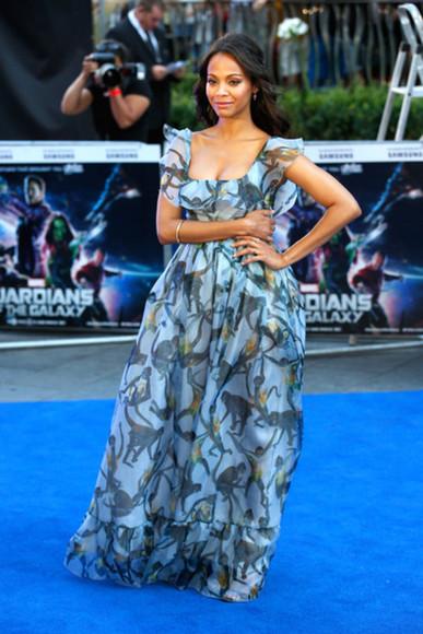 dress zoe saldana maxi dress