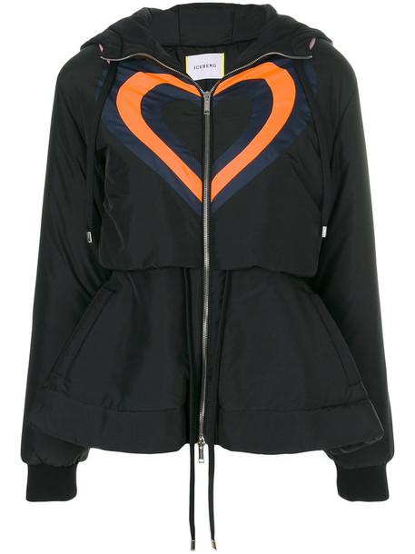 Iceberg jacket puffer jacket heart women black