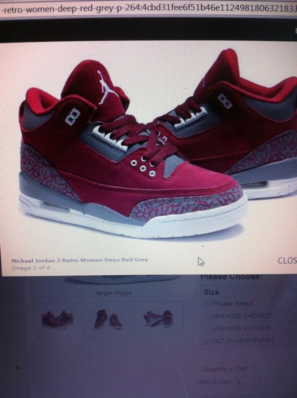 shoes sneakers jordans deep red