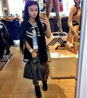 jeans,india westbrooks,jordans,jordan gamma blue 11s,purse,sunglasses,camouflage,tank top,watch,black,bag,shirt,camo pants,jersey,sweater,gammas 11s jordan's,fvkin,dope,blouse,black baseball shirt,india love,jacket,black/white baseball jersey worn by  india westbrooks,cardigan,black top,white top