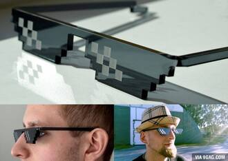 sunglasses sun summer accessories glasses accessories 9gag menswear pixelated pixel pixels pixel art internet funny geek