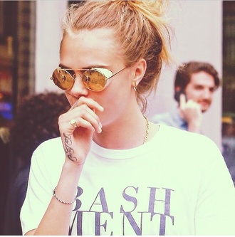 sunglasses cara delevingne shiny indie grunge cool