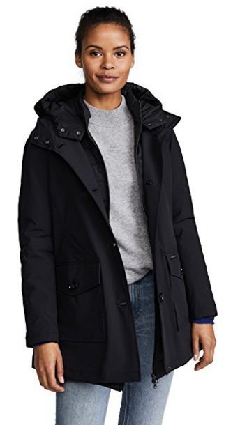 Woolrich parka black coat
