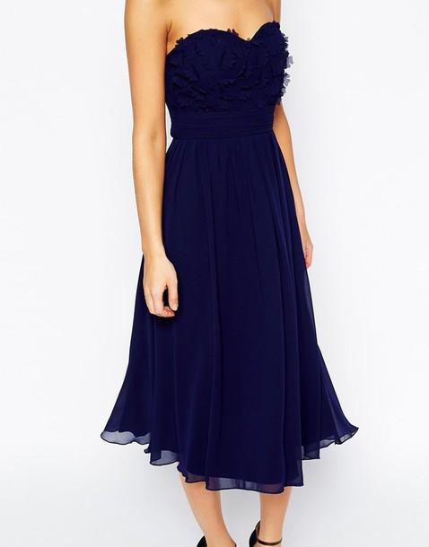 dress little mistress prom dress prom gown navy navy dress navy dress midi dress summer bridesmaid midi prom dress navy prom dress appliques prom dress bridesmaid