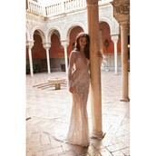 dress,nude,wedding dress,berta wedding gowns,gown,winter outfits