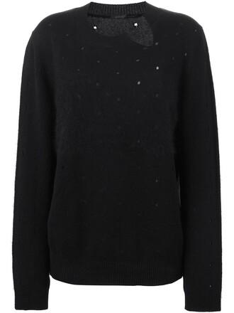 sweater women black pattern