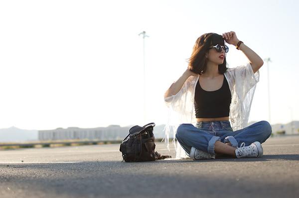 jacket kimono fringes embroidered white Pop Couture fringe kimono white kimono fashion blogger jeans
