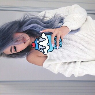 phone cover blue ice cream cute hipster grunge beautiful sweater