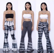 pants,wide legs,high waisted pants,tie dye,women,leggings,printed leggings,hippie,fashion,streetwear