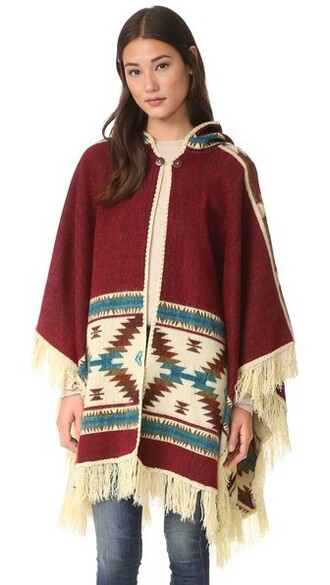 poncho red top
