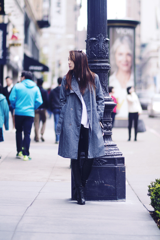 clothes to midnight blogger coat tank top leggings shoes sunglasses