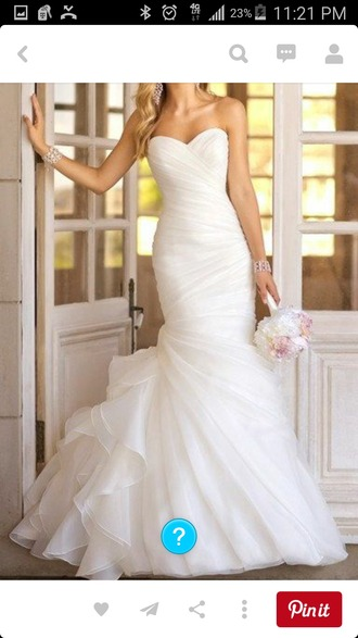 dress rouched wedding dress mermaid wedding dresses
