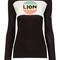 Black cotton lion stripe jumper